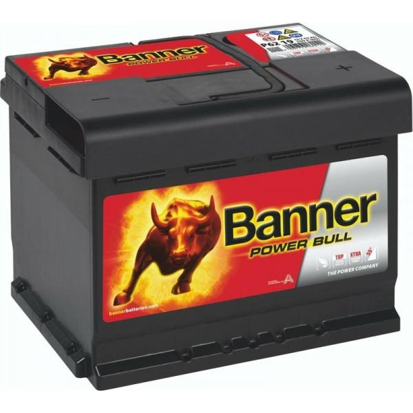 Banner P6219 Power Bull 62Ah Autobatterie 560 408 054