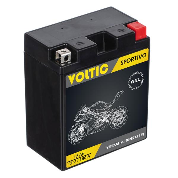 VOLTIC Sportivo GEL YB12AL-A Motorradbatterie 12Ah 12V (DIN 51213)
